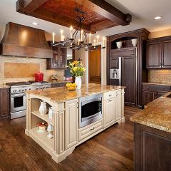 Kitchen for Petrucci Homes by Detroit architectural photographer Don Schulte